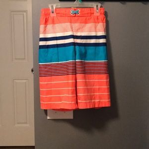 OP Swimming trunks with strips